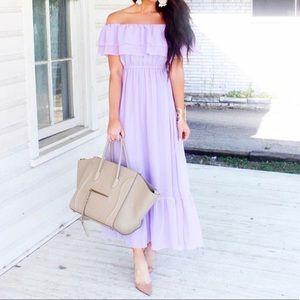 💜Lavender Chicwish Maxi Dress